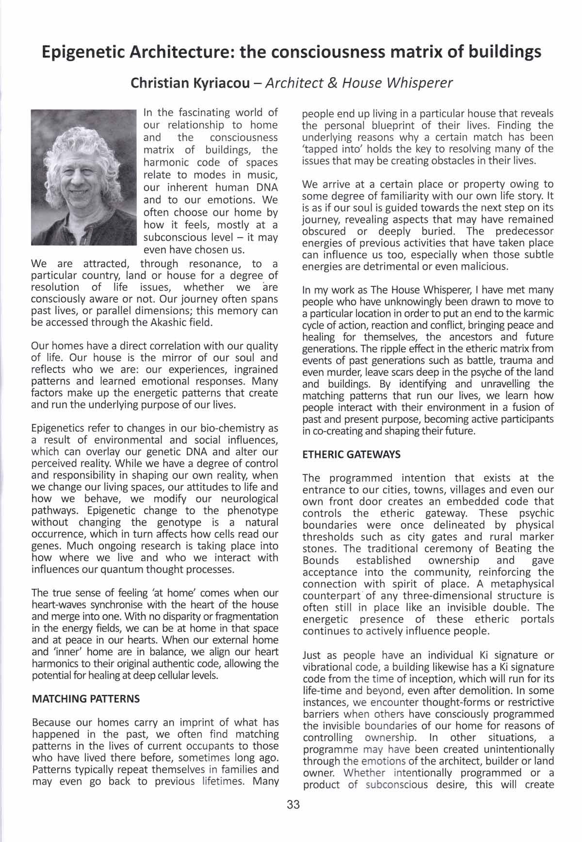 Epigenetic Architecture Page 1